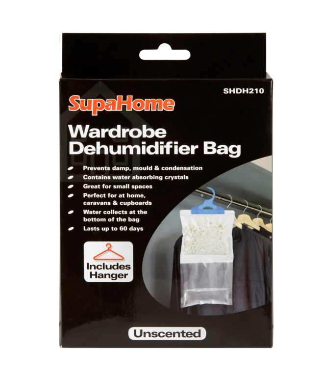 SupaHome Wardrobe Dehumidifier Bag - 210g