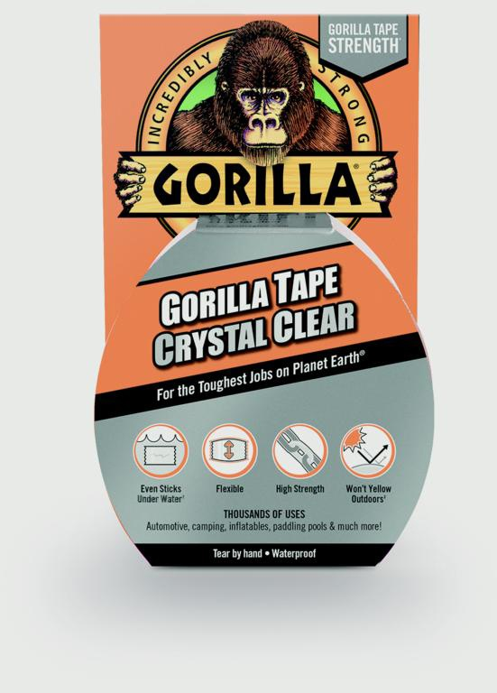 Gorilla Crystal Clear Tape - 16.4m