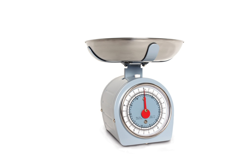 Sabichi 5kg Retro Mechanical Scales - Blue