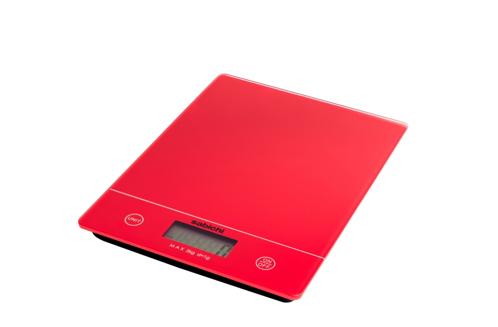 Sabichi 5kg Digital Kitchen Scales - Red