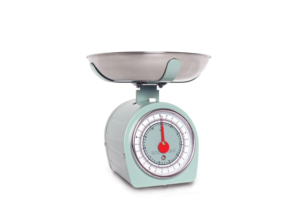 Sabichi 5kg Retro Mechanical Scales - Green