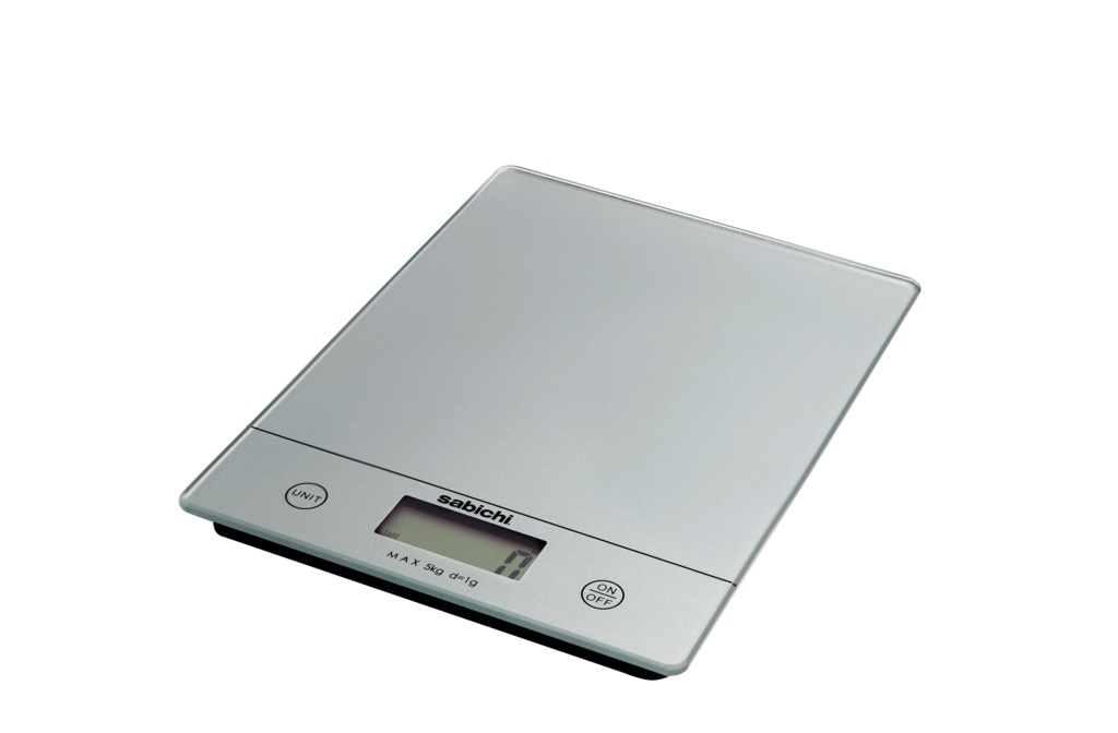 Sabichi 5kg Digital Kitchen Scales - Silver
