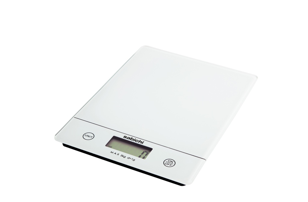 Sabichi 5kg Digital Kitchen Scales - White