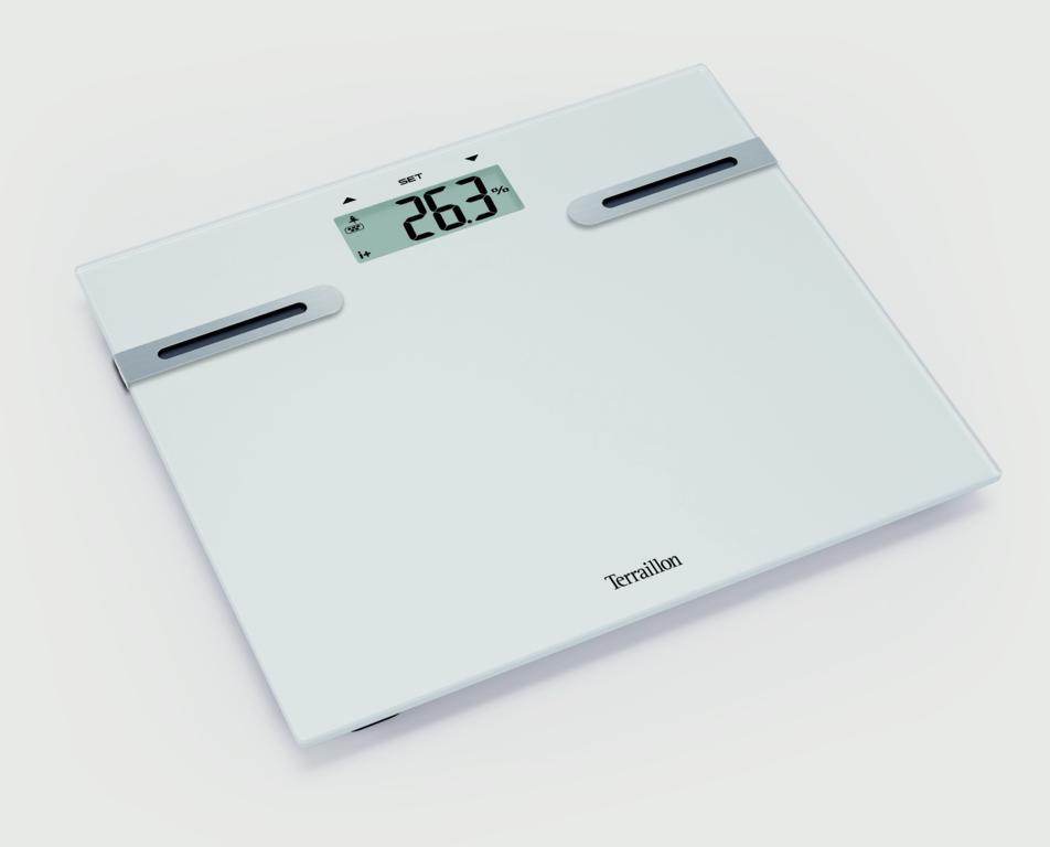 Terraillon Tracker Body Fat Scale - 160kg White