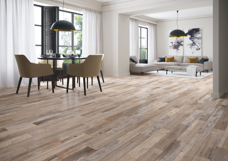 Verona Ashwood Aged Oak Glazed Wall Floor Tile - 15 x 90 1.215m2