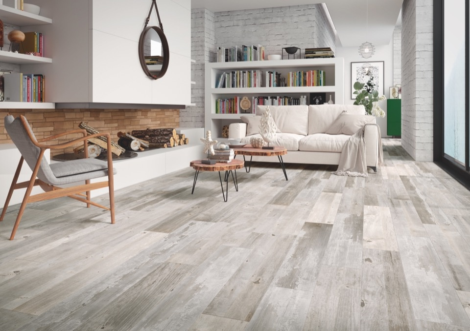 Verona Ashwood Silver Glazed Wall Floor Tile - 15 x 90 1.215m2