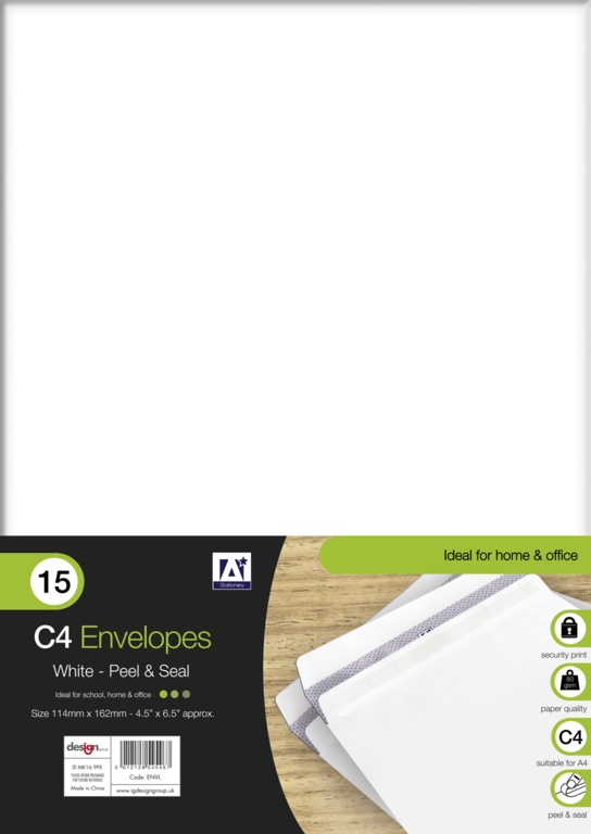 Anker C4 White Envelopes - Pack 15