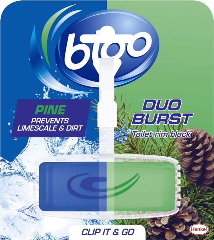 Bloo Duo Burst Toilet Rim Block - Pine 40g