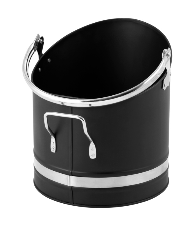 Hearth and Home Metal Coal Hod With Chrome Handles