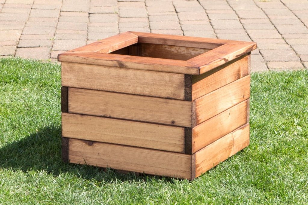 Charles Taylor Small Wooden Planter - W41 x D41 x H31cm