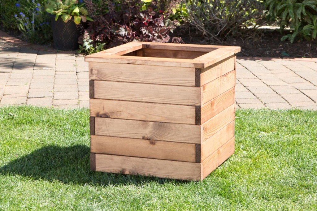 Charles Taylor Large Wooden Planter - W47 x D47 x H38cm