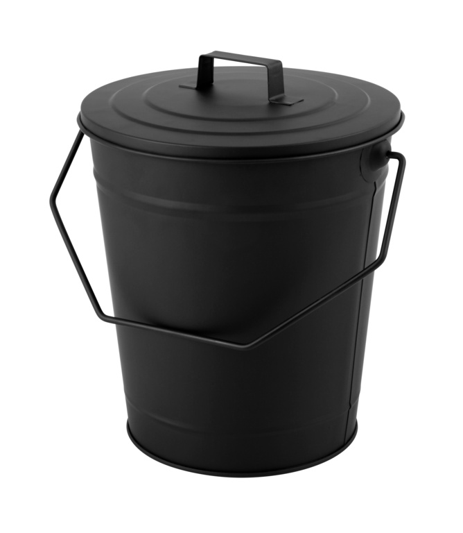 Hearth & Home Coal Bucket With Lid - Black