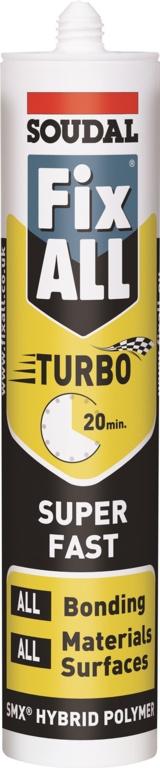 Soudal Fix All Turbo Adhesive White - 290ml