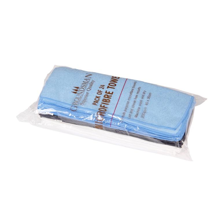 Groundsman Microfibre Towels 40 x 30cm - Pack 24