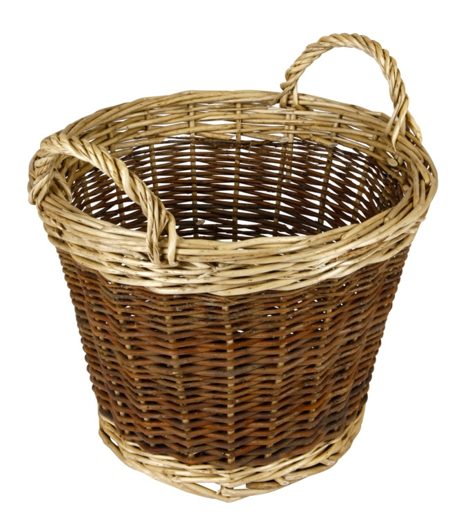 Hearth & Home Two Tone Log Basket - 30cm