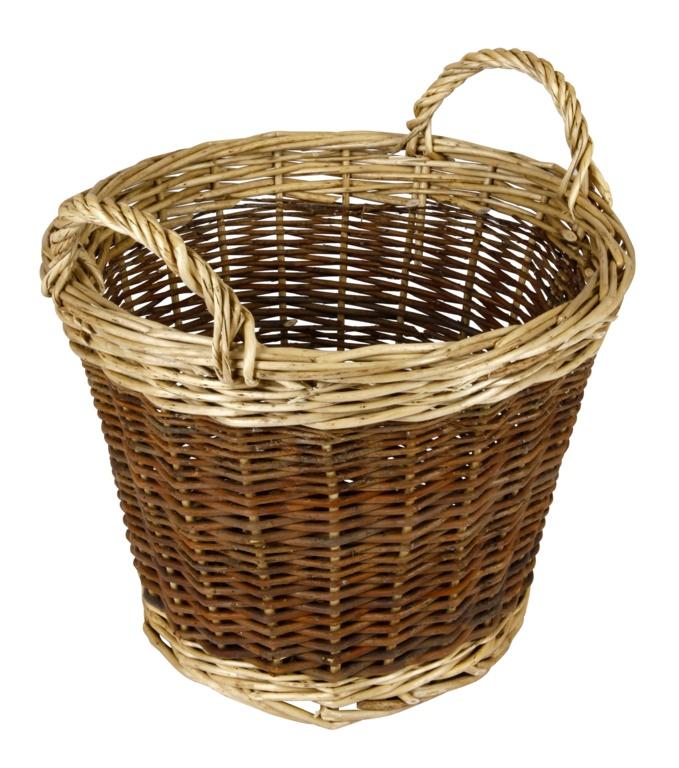 Hearth & Home Two Tone Log Basket - 30cm