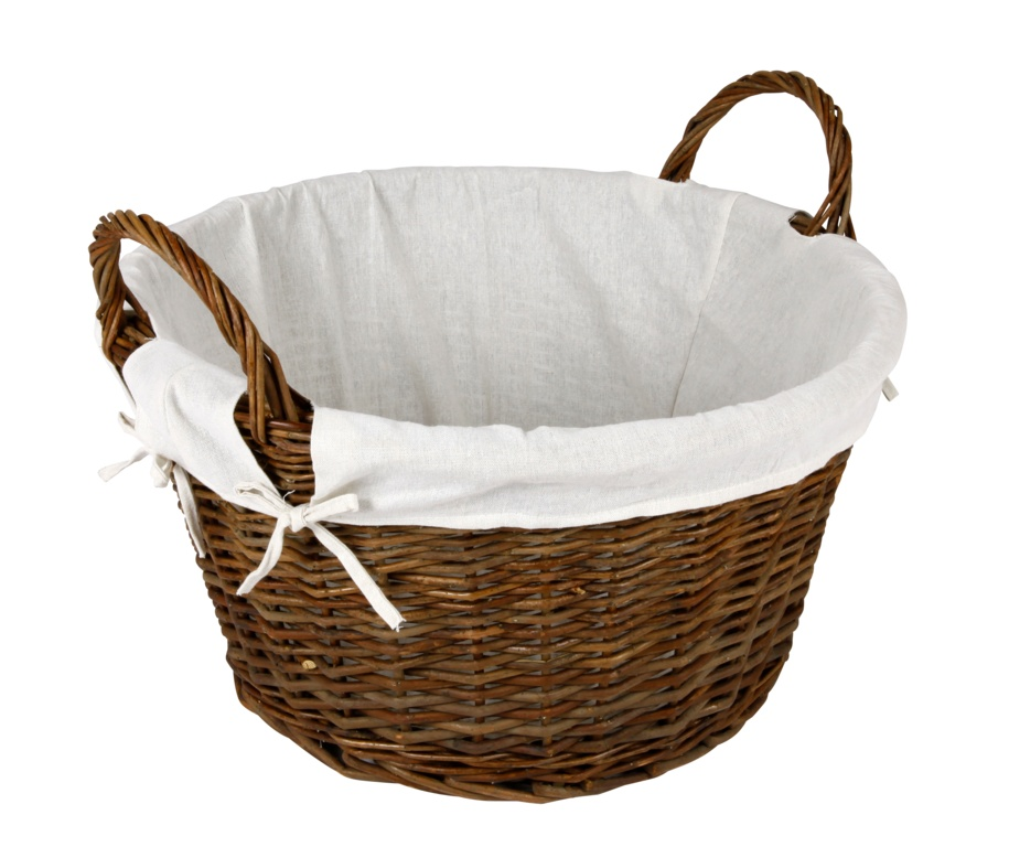 Hearth & Home Wicker Log Basket With Removable Liner