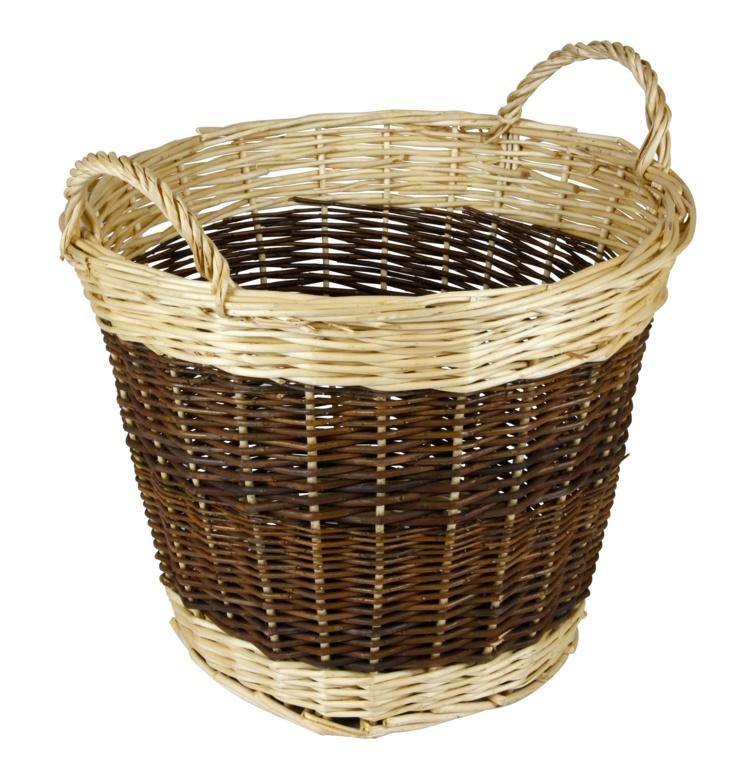 Hearth & Home Two Tone Log Basket - 48cm