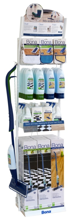 Bona Spray Mop Freestanding Display Unit