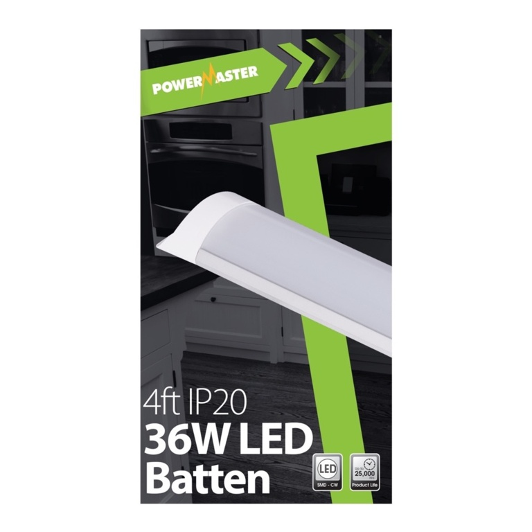 Powermaster LED IP20 Batten - 120cm 40w