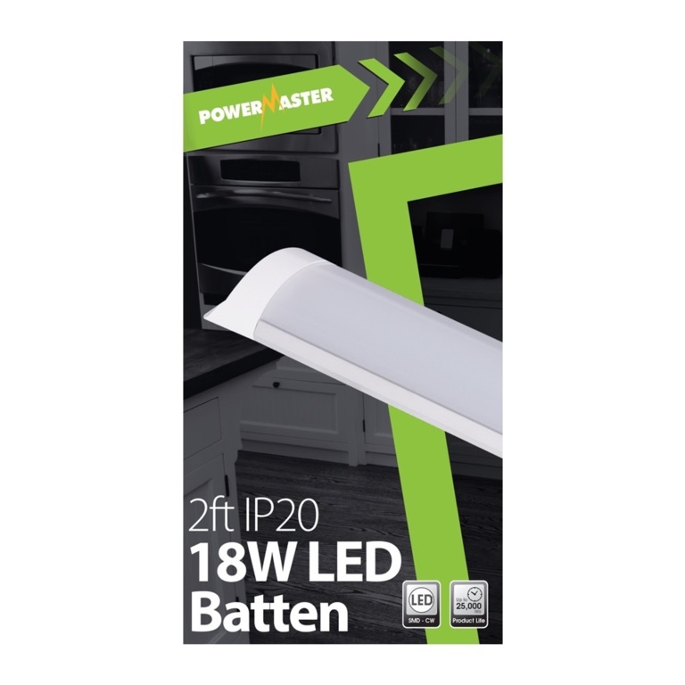 Powermaster LED IP20 Batten - 60cm 18w