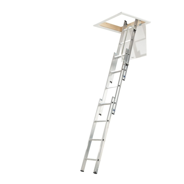 Werner Aluminium Loft Ladder - 3 Section 2.13m - 3m