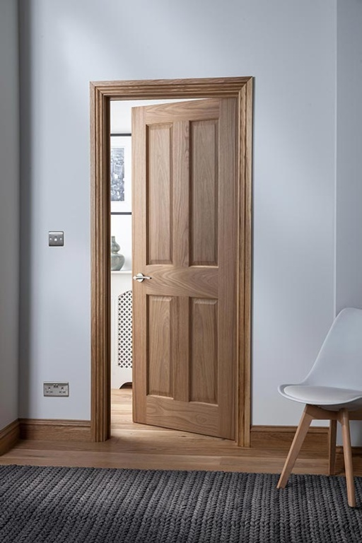 Cheshire Mouldings Cheshire 4 Panel Oak Door - 1981 x 838