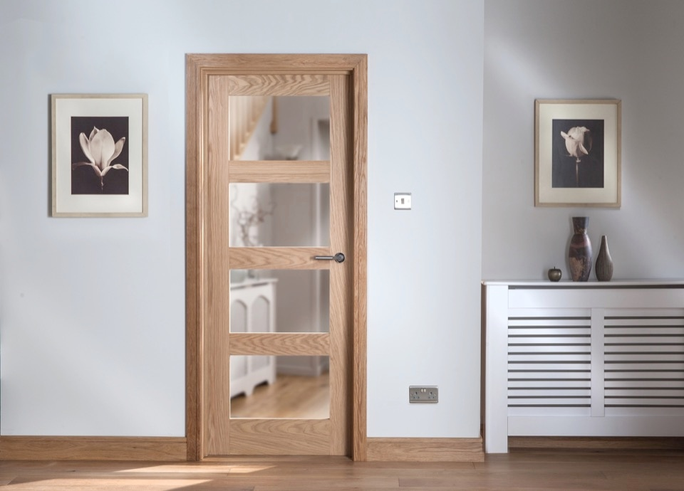 Cheshire Mouldings Cheshire 4 Light Shaker Oak Door - 1981 x 762mm
