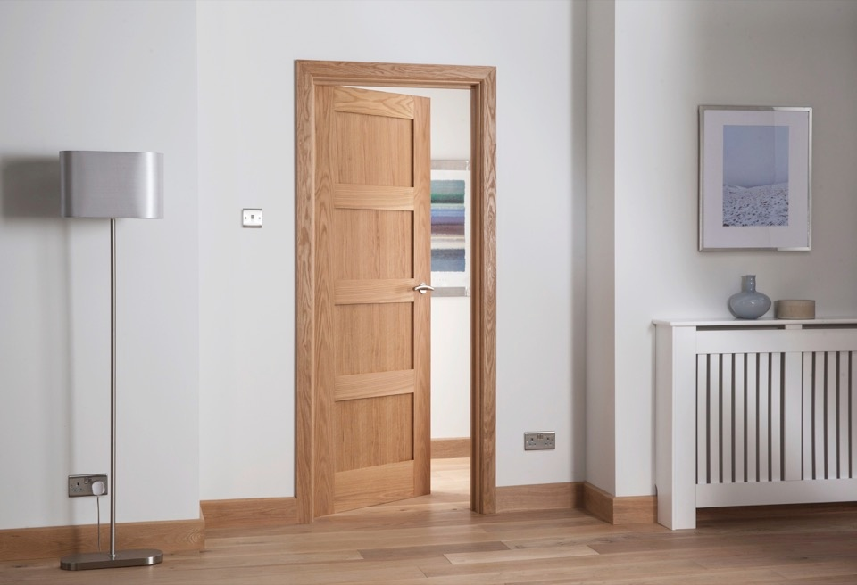Cheshire Mouldings Cheshire 4 Panel Shaker Oak Door - 1981 x 838mm