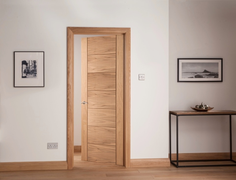 Cheshire Mouldings Cambridge 7 Panel Oak Door - 1981 x 838mm