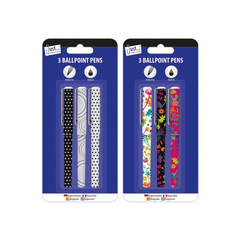 Tallon Designer Barrel Pens - Pack 3