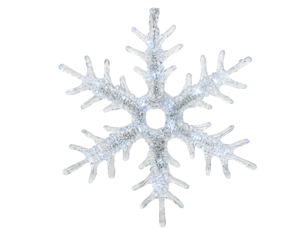 Kaemingk LED Acrylic Snowflake - Cool White 16 Light