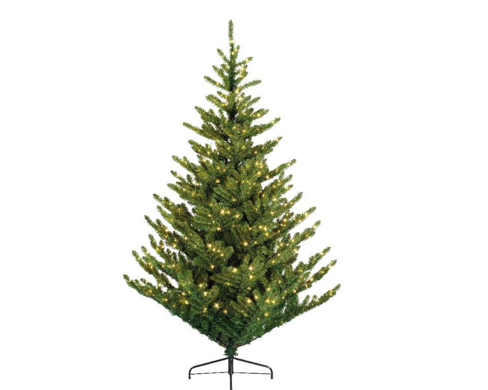Ambassador Green Aspen Spruce Tree - 8ft Warm White