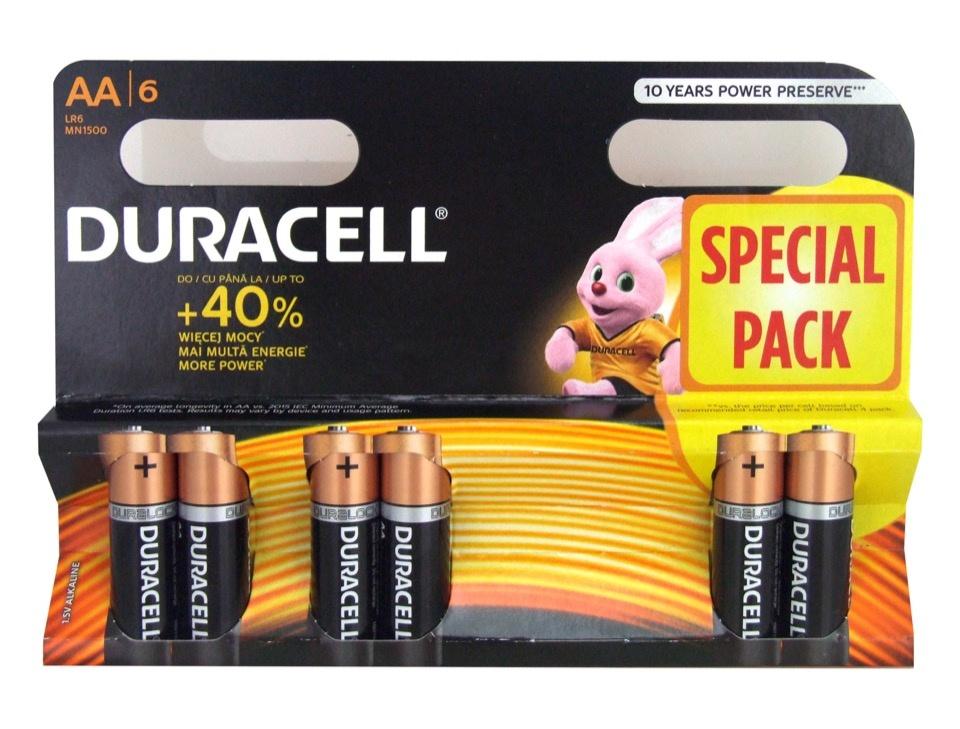 Duracell 4 Plus 2 Pack Batteries - AADURB6