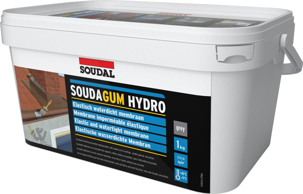 Soudal Soudagum Hydro Waterproof Coating Kit - 1kg