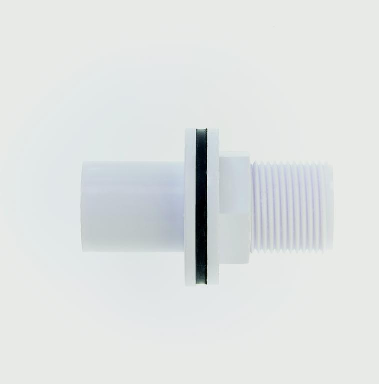 Make Overflow Straight Tank Connector 22mm - 22mm