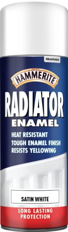 Hammerite Radiator Enamel 400ml Aerosol - Satin White
