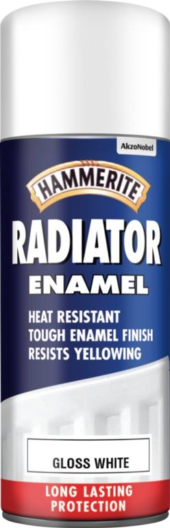Hammerite Radiator Enamel 400ml Aerosol - Gloss White
