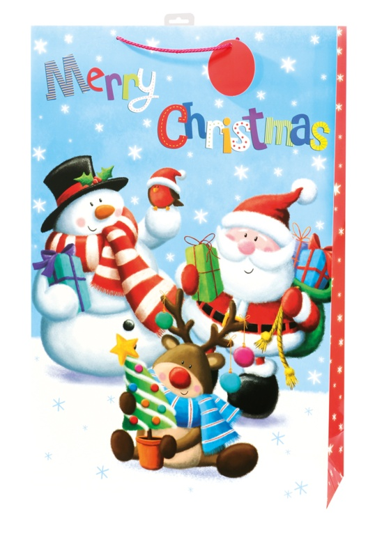 I G Design Cute Santa Character Paper - Jumbo