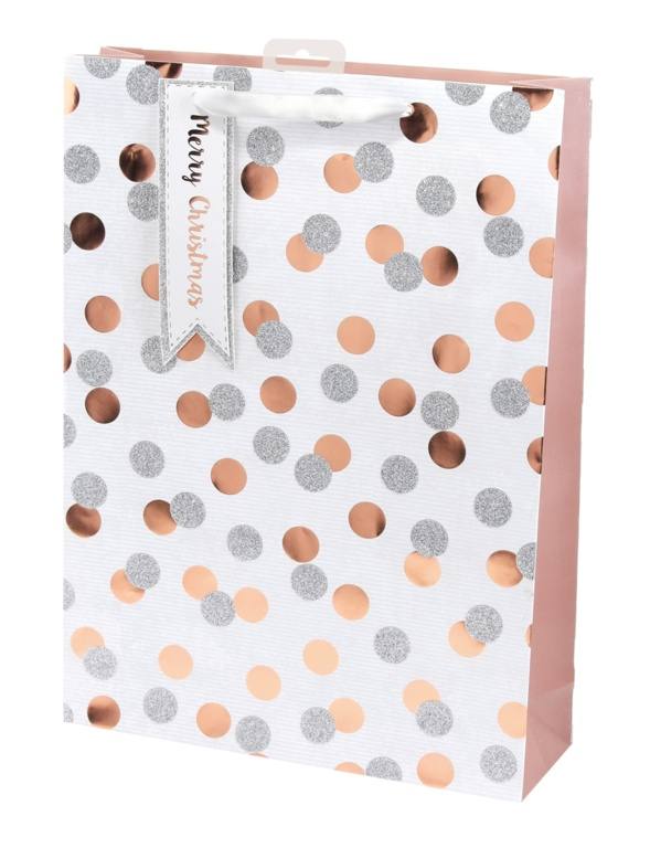 I G Design Metallic Spots Bag - X Large
