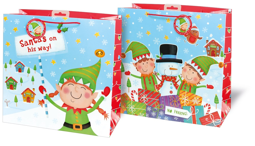 I G Design Giant Square Bag - Elf Scene