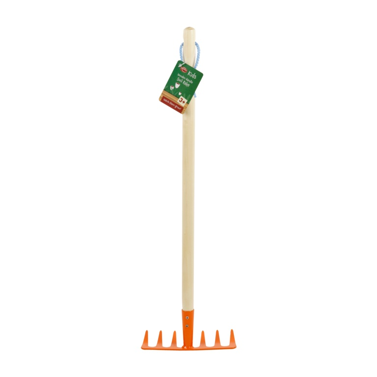 Ambassador Kids Wooden Handle Soil Rake - 61cm