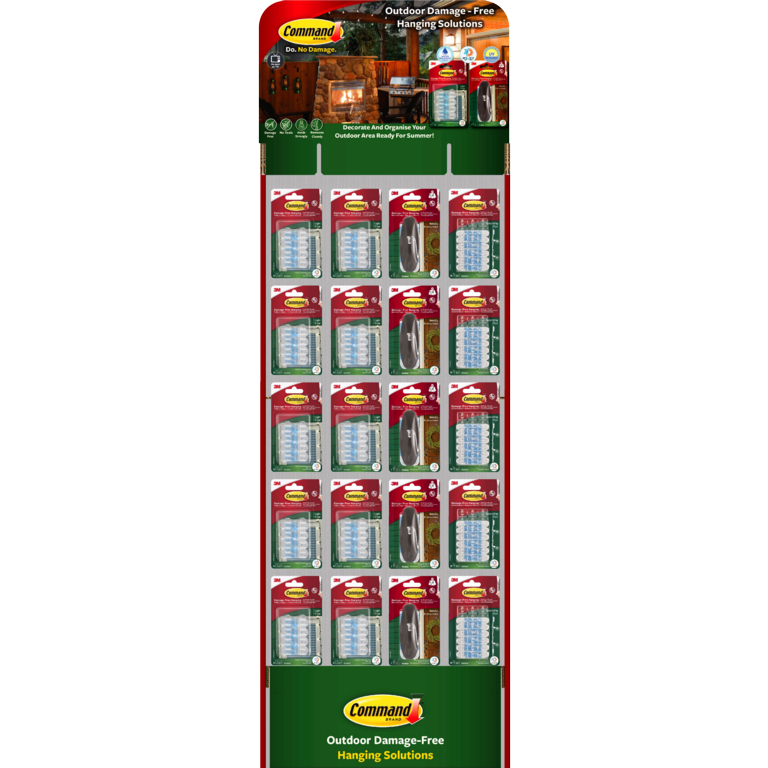 Command™ Outdoor Xmas Free Standing Display Unit