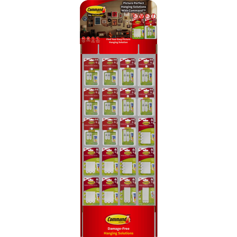 Command™ Picture Hanging Strips Free Standing Display Unit