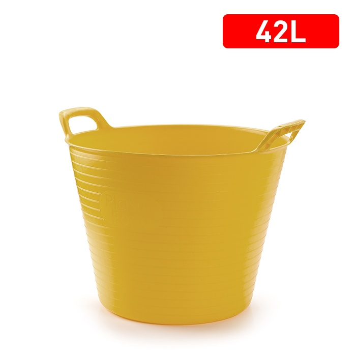 Plasticforte Recycled Flexi Tub - 42L - Yellow