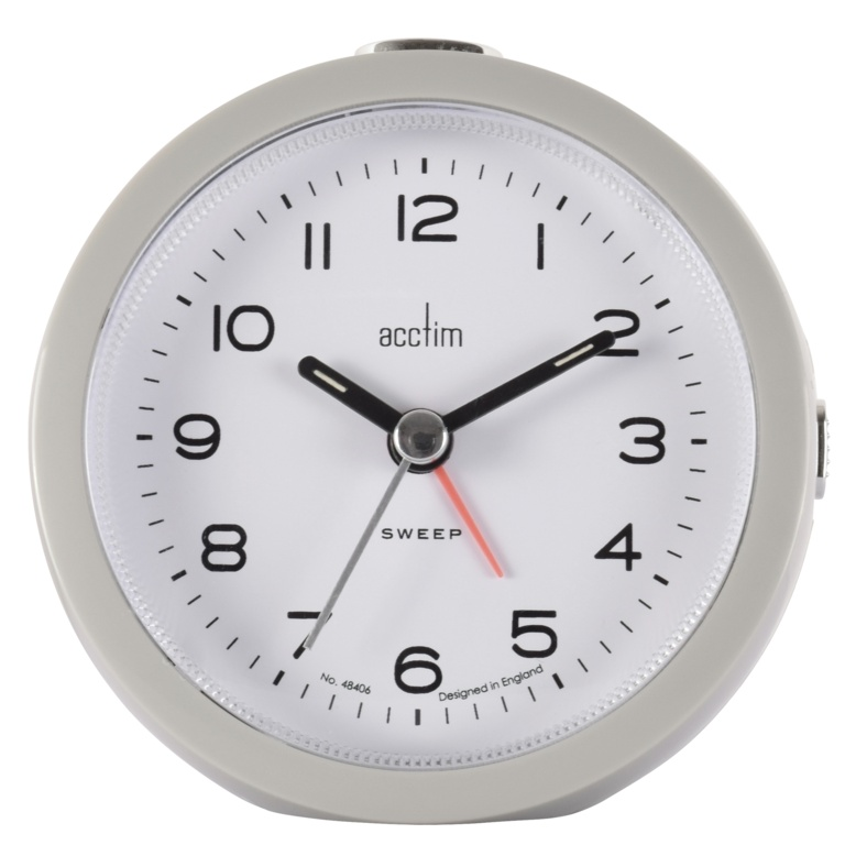Acctim Neve Non Ticking Sweep Clock - Grey