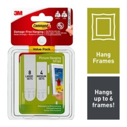 Command Picture Hanging Strips - Medium & Large