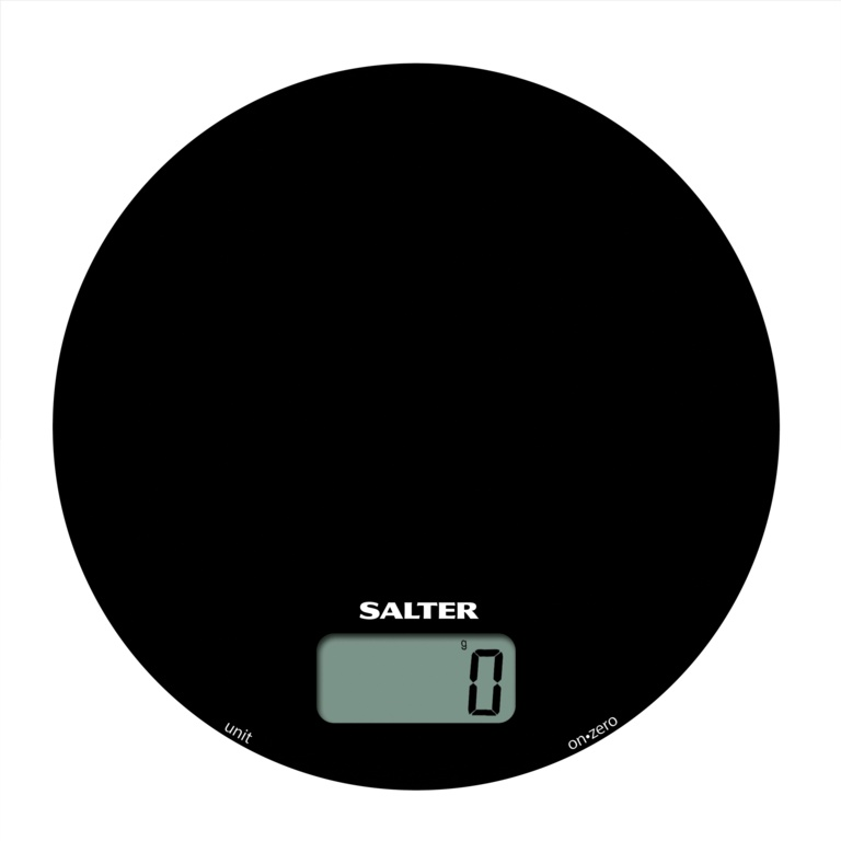 Salter Electronic Mono Round Glass Kitchen Scale