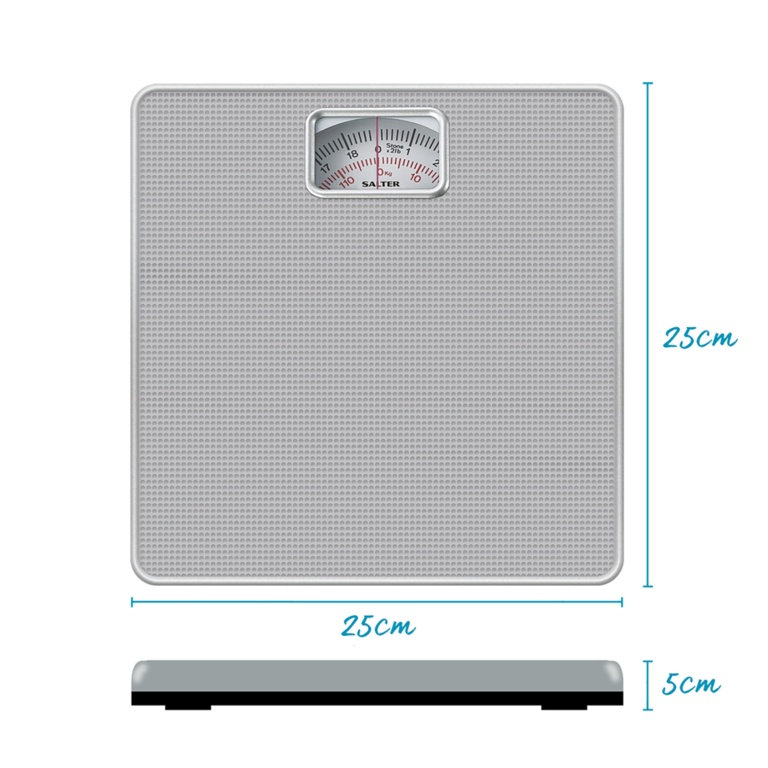 Salter Mechanical Bathroom Scale - Silver