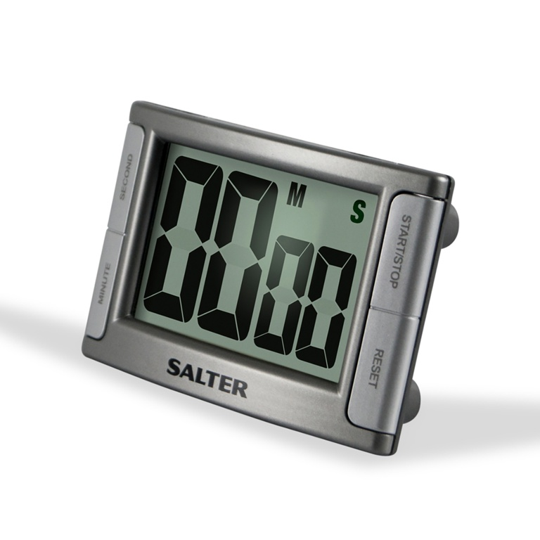 Salter Contour Digital Kitchen Timer - Silver